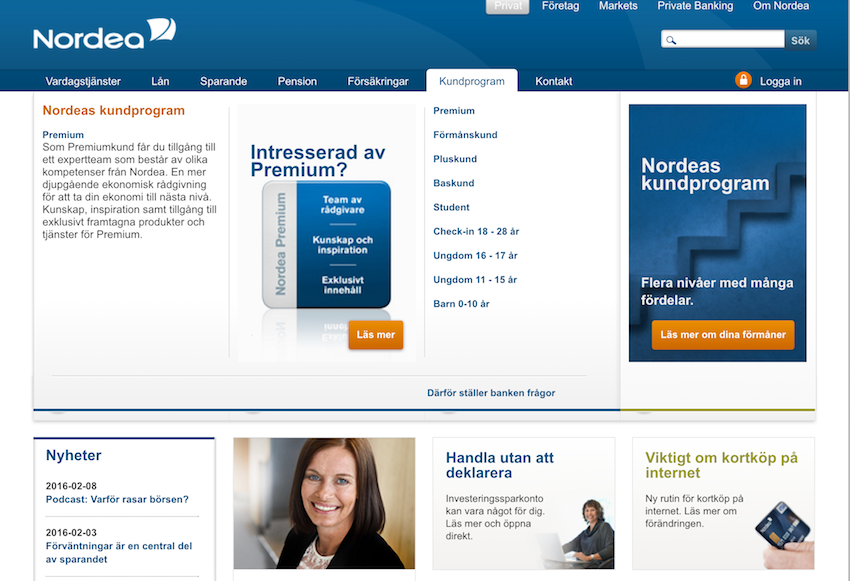 Nordea Screenshot